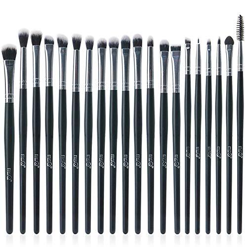 MSQ Lidschatten Pinsel Set 20pcs Make-up Augen Pinsel Lidschatten Blending Pinsel Augenbrauen Eyeliner Lippenpinsel Schönheit Pinsel, am besten für Geschenke - schwarz