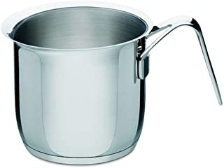 """A Di Alessi,AJM302""""POTS & PANS"""", Milk boiler in 18/10 stainless steel mirror polished,2 qt ¼ oz"""