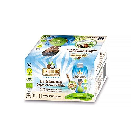 Dr. Goerg Premium Bio-Kokoswasser 330ml Sparpaket 12 Stück