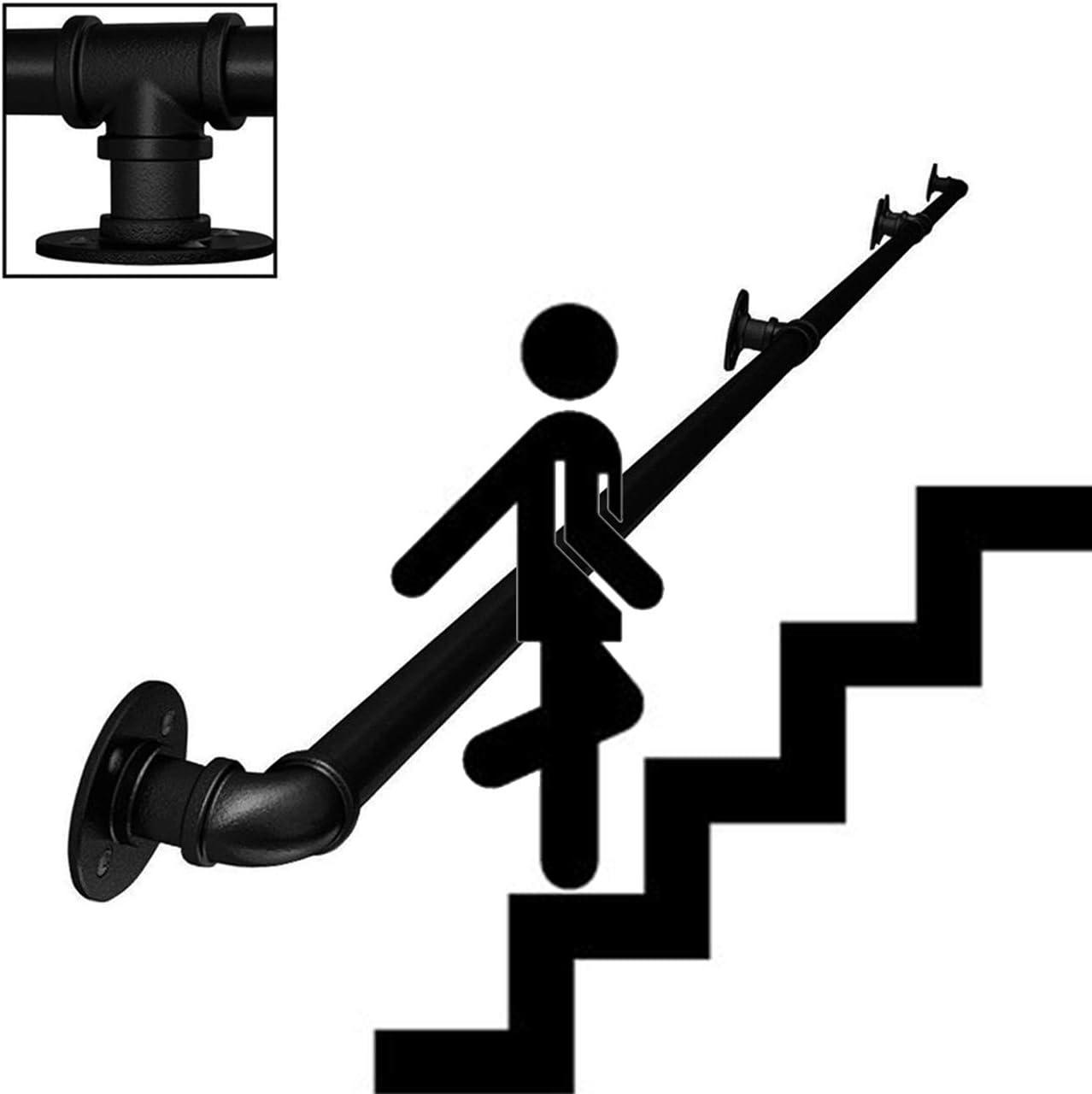 B/ügeleisen Schwarz Sturzpr/ävention|,1ft//30cm ZCFXGHH Hilfs Balance Treppenhandlauf Handlauf Rampe Handtuchhalter Lenkerhandlauf Bar for die Home Kinder Korridor Krankenhaus Villas Lofts