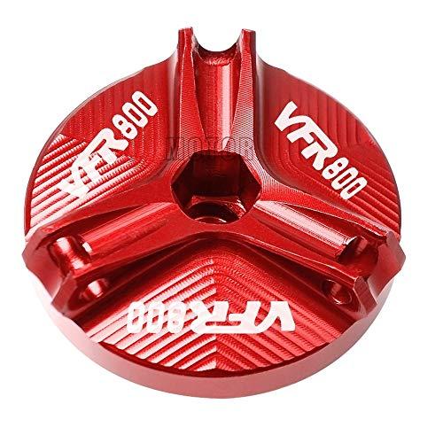 Repuestos Powersports For Honda VFR800 / VFR800F / VFR 800 VTEC/FI / W1 de la motocicleta M20 * 2.5 CNC de aluminio Motor Oil Cap Plug relleno del aceite de la Copa de cubierta de perno de tornillo