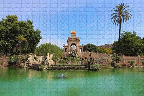España Ciutadella Park Barcelona Jigsaw Puzzle para Adultos 1000 Piezas Rompecabezas de madera para adultos