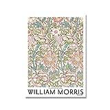 Póster de exposición impreso en lienzo de William Morris, pintura Art Nouveau subterránea de Londres, pintura en lienzo sin marco para pared, A6, 60x80cm