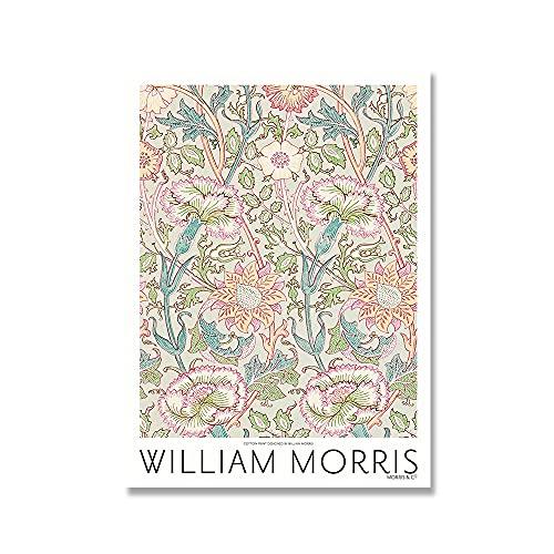 William Morris Canvas Printed Exhibition Poster London Underground Art Nouveau Family Frameless Canvas Painting A4 60x80cm