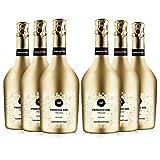 san martino vini prosecco doc treviso extra dry, confezione 6 bottiglie spumante x 750 ml, gusto frizzante ideale per aperitivi, cocktails e primi piatti, 11% vol