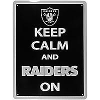 NFL Siskiyou Sports Fan Shop Las Vegas Raiders Keep Calm Sign 12 inch Team Color