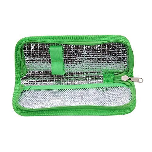 Vobor Insulin Cooler Travel Case - Insulin-Kühltasche, Diabetic Organizer Isolierte Kühltasche Für Insulin Pen Und Diabetikerzubehör (Farbe : Grün)