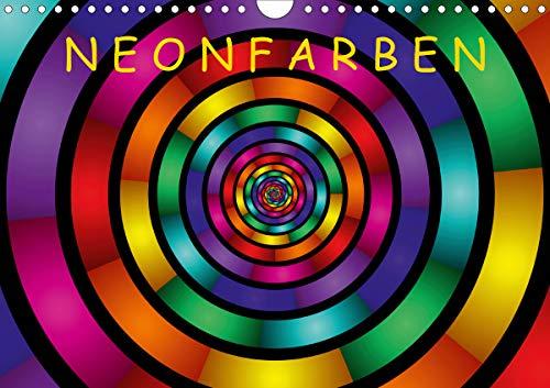 Neonfarben (Wandkalender 2021 DIN A4 quer)