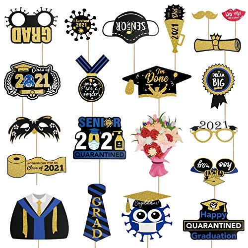 LANMOK 2021 Abschluss Fotorequisiten, 21Stk Glückwunsch Abschluss Graduation Photo Booth Props...