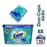 Spee Duo-Caps Frische-Kick, Vollwaschmittel mit Geruchsentferner, 8er Pack (8 x 16 Waschladungen)