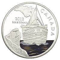 コインコレクション記念コイン191_ブリテンタイタニックシップラブシルバーメッキ記念コインコレクション通貨ラッキーコインコインメモリアル