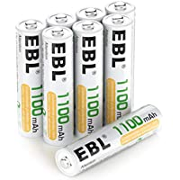 8-Pack EBL AAA Ni-MH Rechargeable Batteries