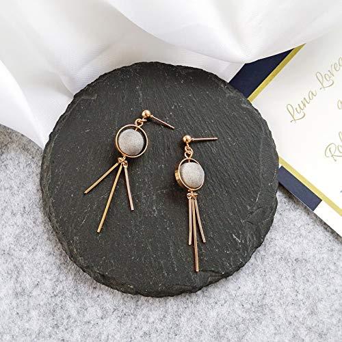 Chwewxi Koreanische Temperament Wilde Hand Stricken Ohrringe Student Mädchen Mode Haar Ball Liebe Beflockung Ohrringe Ohrringe Perle, Farbe 33# graue Perlen Ohrringe