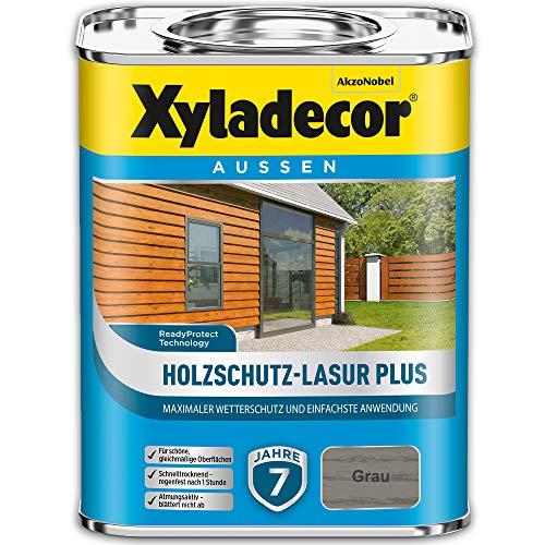 Xyladecor Barniz protector para madera Plus gris, 750 ml, para exteriores, larga duración