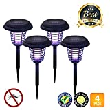 LIGHTSMAX Solar Powered Light, Mosquito and Insect Bug Zapper-LED/UV Radiation Outdoor Stake Landscape