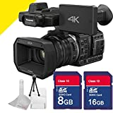 Panasonic Hc-x1000 4k Camcorder with Two Memory Cards and Stater Kit