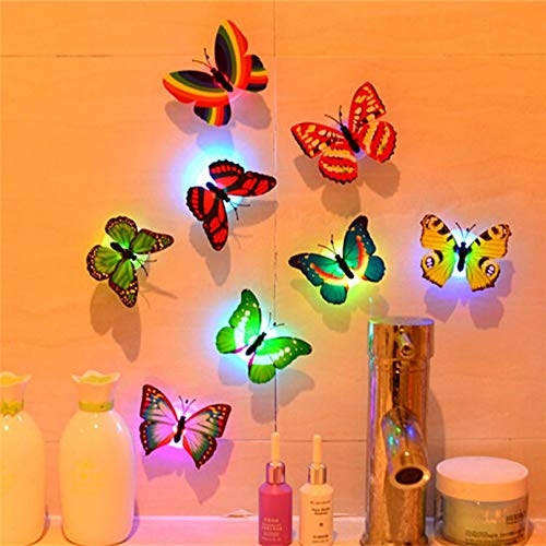 SUNYU Elegant Appearance 1 Pcs Wall Stickers Butterfly Led Lights Wall Stickers 3D House Decoration