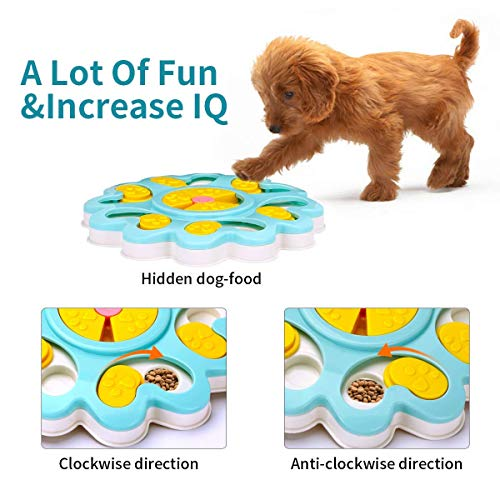 Product Image 3: Kismaple Dog Treat Puzzle. Activity Interactive Fun Game IQ Training Toy Food Dispensing Puzzle Slow Feeder Plate/Non-Slip.