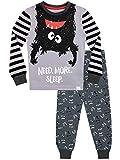 Harry Bear Pijamas de Manga Larga para niños Monstruo Ajuste Ceñido Gris 3-4 Años