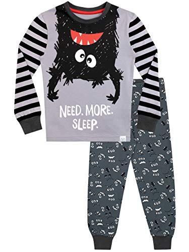 Harry Bear Jungen Monster Schlafanzug Slim Fit Grau 116
