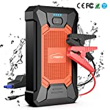 YABER [Upgrade] Starthilfe Powerbank, 800A Spitzstrom 12000mAh Tragbare Auto Starthilfe mit LED...