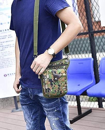 NANIH Home Sac de Taille pour Homme Sac de Poitrine Sports de Plein air épaule Messenger Sac à Dos (Camouflage Jungle)