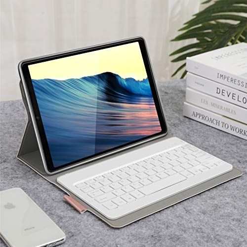Jelly Comb Samsung Galaxy Tab A 10.1 2019 Tastatur Hülle, Bluetooth Beleuchtete QWERTZ Tastatur mit Schützhülle für Samsung Galaxy Tab A 10,1 Zoll T515/T510/T510N/T515N, Rosagold