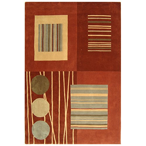 Safavieh Rodeo Drive Collection RD879A Handmade Mid-Century Modern Abstract Wool Area Rug, 7'6