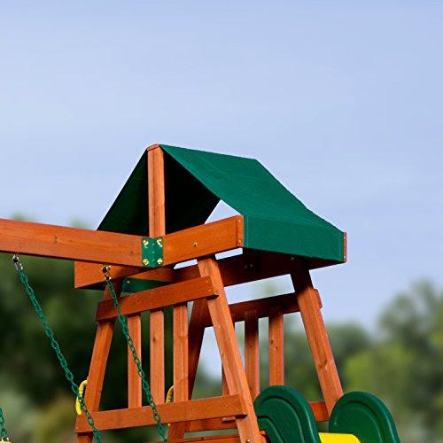 Backyard Discovery Prescott All Cedar Wood Playset Swing Set
