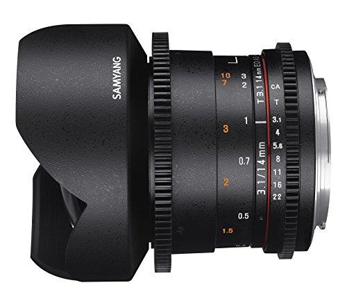 SAMYANG 13014T3.1N T3.1 VDSLR ED UMC II Objektiv für Anschluss Nikon (14mm)