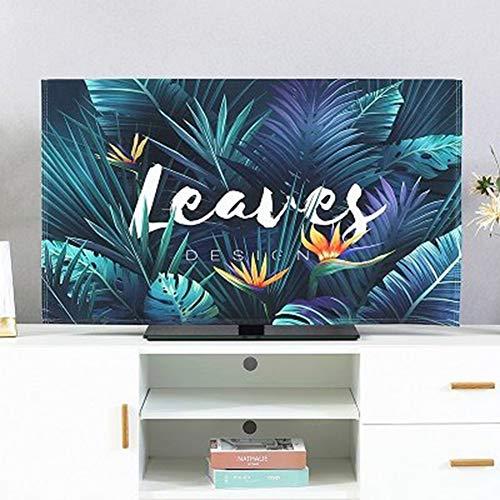 catch-L Interior Cubierta De TV LCD Cubierta De Polvo Escritorio Cubierta De La Pantalla De La Computadora Cubierta (Color : Birds of Paradise, Size : 80inch)