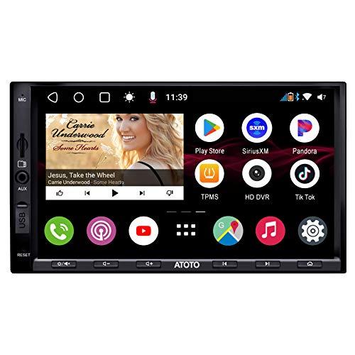 ATOTO S8 Pro S8G2A75P, video per auto con cruscotto Android con navigazione (senza DVD), 2 BT con aptX HD, collegamento telefonico, display QLED, parcheggio VSV, carica QC3.0 e altro