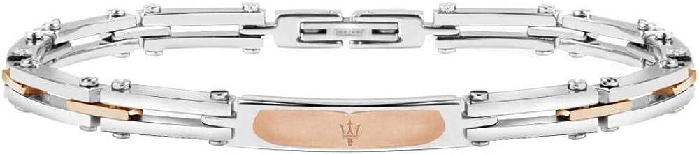 Maserati collezione jewels bracciale da uomo in acciaio, pvd oro rosa JM417AKV04