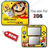 Super Mario Maker Yellow Edition Skin Sticker Decal Cover #2 for Nintendo 2DS