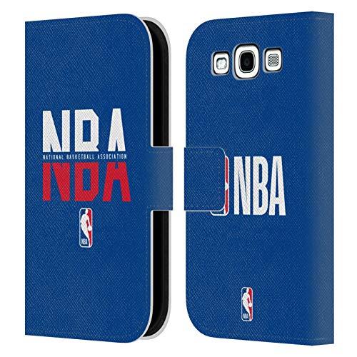 Head Case Designs Ufficiale NBA Tipografia 2019/20 Logoman Cover in Pelle a Portafoglio Compatibile con Samsung Galaxy S3 III I9300