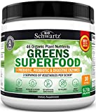 Super Greens Powder - Dr. Approved Formula with 45+ Organic Green Superfoods - Alfalfa, Bilberry, Spirulina, Chlorella & More - Keto Friendly Vegan Supplement - 3 Servings of Veggies per Scoop