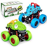 LODBY Dinosaur Trucks Toys for 2 3 4 5 6 Year Old Boys Gifts, Pull Back Vehicles for Kids Outdoor...