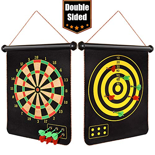 Dreamingbox Jouets pour Garçons de 5-15 Ans, Cible de Fléchette Double Face pour Enfants Jouet Fille 5-15 Ans Cadeau Noel pour Enfant 5-15 Ans Garcon Cadeaux Fille de 5-15 Ans Jouet Garcon 5-10 Ans