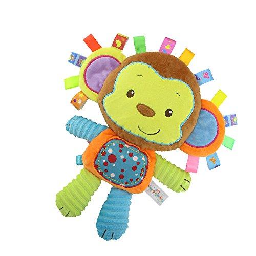 Inchant scimmia Taggie attività coperta e sensoriale giocattolo del bambino Regali per neonati bambino, infante, Peluche Lovey - Clam terra ed il gioco il suo bambino, Taggy giocattolo del bambino