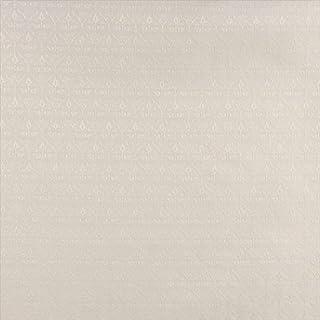 Designer Fabrics B665 54 in. Wide Off White44; Diamond Cameo Jacquard Woven Upholstery Fabric