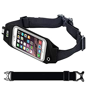EOTW Running Belt Waist Pack Bag with Zipper to Hold Cell Phones up to 4.7 inch,Touch Screen Fanny Pack Sport Waist Belt Holder for iPhone 7,6,6s,SE,5s,iPod Touch/,Moto g,x/HTC One m7/Huawei p6, Ascend Y530/Samsung s5 mini Nokia Blu ZTE Running Jogging Walking Hiking Race - 4.7