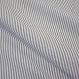 Stoff Meterware Bauernstreifen grau weiß Streifen 4 mm