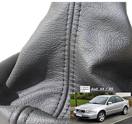 Maßgefertigter Schaltsack schwarz - Schaltmanschette aus Echtleder für A4 B5 FL Erstausrüsterqualität