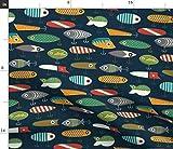Fisch, Angeln, Vintage, Köder Stoffe - Individuell