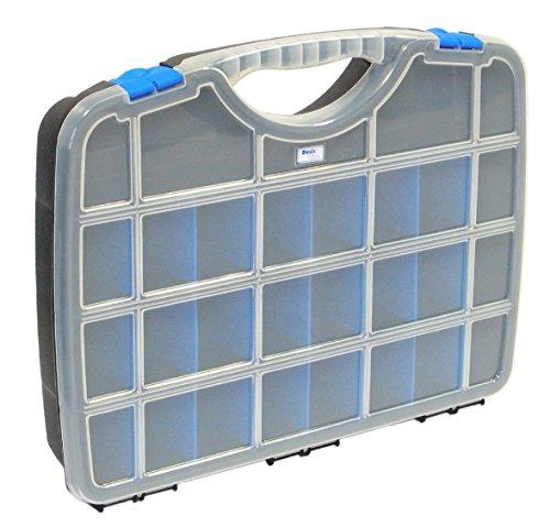 Tayg 024559 Line Etui mit beweglichen Trennwänden Nr. 24-21 Sortimentskasten Basic Box 03/460 x 350 x 81 mm/bis zu 26 Fächer/schwarz-blau