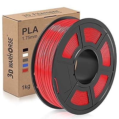 PLA Filament, 1.75mm 3D Printer Filament, PLA 3D Printing 1KG Spool, Dimensional Accuracy +/- 0.02mm, Red