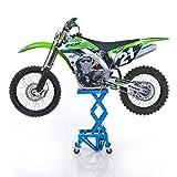 Caballete Elevador ConStands Moto Cross Lift XL + Ruedas Azul Sachs ZX 125