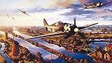 ZGNH Puzzles 1000 Piezas El Mundo fue II FW 190 Air Force Madera Puzzle, niño Juguete Educativo Intelectual de Adulto descompresión,Regalo Ideal La Mejor DIY Decoración hogareña