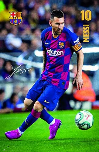 Kit de pintura de diamante 5D FC Barcelona 2019/2020 Messi regalo de 12 x 16 pulgadas (30 x 40 cm) bordado mosaico decoración del hogar regalos hechos a mano
