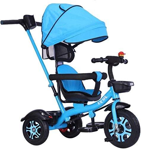 Sillas de paseo Infantil Trikes Kids'Trike y Cochecito Triciclo triciclos for niños de 2-6 Triciclo Trike cochecitos for niños con Asiento Ajustable con el pabellón Estribo de Empuje Carritos